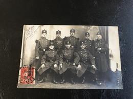 Carte Photo 148e Regiment D'Infanterie 12e Compagnie 1ere & 3e Escouade - 1908 Timbrée GIVET - Regimenten