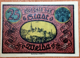 GERMANY :  NOTGELD STADT WEIDA 25 PFENNIG   1921 - [11] Emissions Locales