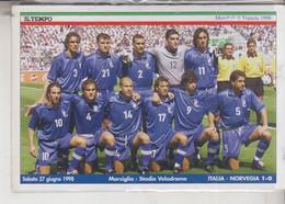 CALCIO  NAZIONALE  ITALIANA  MONDIALI DI FRANCIA  1998  MARSIGLIA  STADIO VELODROME - Soccer