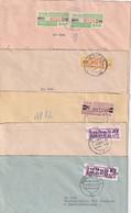 DDR LOT DE 5 LETTRES AVEC VIGNETTES DE DISTRIBUTION - Covers & Documents