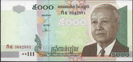 CAMBOYA  UNC  5000 RIELS  2004 - Cambodia