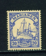 MARIANA ISLANDS  - 1901 Yacht Definitive 20pf Hinged Mint - Kolonie: Marianen