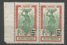 MARTINIQUE N° 117a Sans Point Tenant à Normal NEUF**  SANS CHARNIERE  / MNH - Ungebraucht
