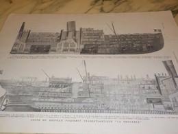 ANCIENNE PUBLICITE  COUPE DU PAQUEBOT PROVENCE 1906 - Barcos