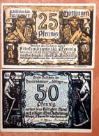 GERMANY : 2 X NOTGELD STADT GÖTTINGEN 25 + 50 PFENNIG 1920 - [11] Emissions Locales