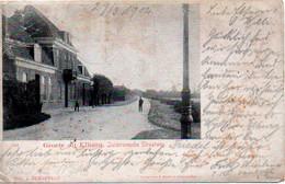 Groete Uit Elburg, Zuiderzeesche Straatweg Mit Mühle (hinten), 1902 Nach Oberhausen - Autres