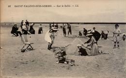 Saint Valery-sur-somme - Sur Le Sable LL N°91 - Animée Jeux D'enfants Dans Le Sable, Costumes D'époque - Saint Valery Sur Somme