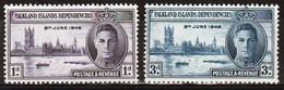 Falkland Islands Dependencies 1946 Set Of Stamps To Celebrate Victory In Mounted Mint. - Falklandeilanden
