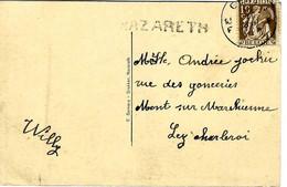 """C.P. De NAZARETH - Kerk Vers MONT-SUR-MARCHIENNE  Avec Obl. """"GENT Du 11-VI-35"""" + Griffe """"NAZARETH"""" - Linear Postmarks"""
