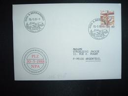 LETTRE TP POSTE AVION 60 OBL.30 5 88 6565 S. BERNARDINO LUOGO DI CURA - Postmark Collection
