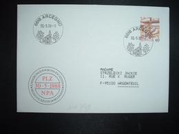LETTRE TP POSTE AVION 60 OBL.30 5 88 6618 ARCEGNO - Postmark Collection