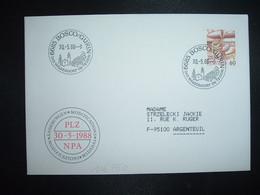 LETTRE TP POSTE AVION 60 OBL.30 5 88 6685 BOSCO/GURIN DAS WALSERDORF IM TESSIN - Postmark Collection