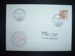 LETTRE TP POSTE AVION 60 OBL.30 5 88 6690 CAVERGNO VALLE VAVONA - Postmark Collection