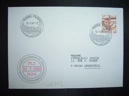 LETTRE TP POSTE AVION 60 OBL.30 5 88 6696 FUSIO NATURA E ARIA PURA - Postmark Collection