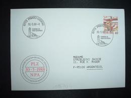 LETTRE TP POSTE AVION 60 OBL.30 5 88 6773 PRATO (LEVENTINA) CHIESA DI SAN GIORGIO - Postmark Collection