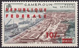 Timbre Pour La Poste Aérienne Neuf* De 1955 Surchargé - Réunification Port De Douala - N° PA 50 (Yvert) - Cameroun 1961 - Camerun (1960-...)