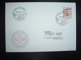 LETTRE TP POSTE AVION 60 OBL.30 5 88 6774 DALPE SOLE VACANZE RIPOSO - Postmark Collection