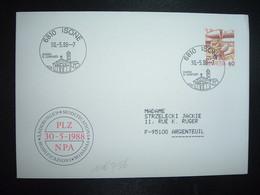 LETTRE TP POSTE AVION 60 OBL.30 5 88 6810 ISONE CHIESA S. LORENZO - Postmark Collection