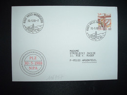 LETTRE TP POSTE AVION 60 OBL.30 5 88 6921 VICO MORCOTE - Postmark Collection
