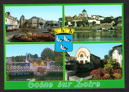 COSNE Sur Loire (58 Nièvre)Multi Vues- Mairie, Eglise, Bords De Loire Du Nohain, Déversoir(Editions Nivernaises N°11130) - Cosne Cours Sur Loire