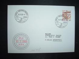 LETTRE TP POSTE AVION 60 OBL.30 5 88 6923 BRUSINO ARSIZIO LAGA DI LUGANO - Postmark Collection