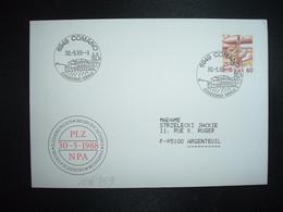 LETTRE TP POSTE AVION 60 OBL.30 5 88 6949 COMANO SOGGIORNO IDEALE - Postmark Collection