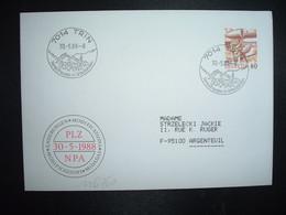 LETTRE TP POSTE AVION 60 OBL.30 5 88 7014 TRIN Ferienfreuden In Graubunden - Postmark Collection