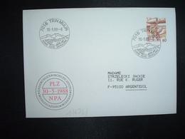 LETTRE TP POSTE AVION 60 OBL.30 5 88 7016 TRIN MULIN SONNE - RUHE - ERHOLUNG - Postmark Collection