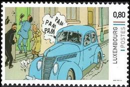 Timbre Privé** - Tintin/Kuifje/Tim - Milou/Bobbie/Struppi - Capitaine Archibald Haddock/Kapitein Archibald Haddock - Coches