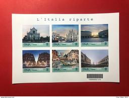 2021 Foglietto Turistica L' Italia Riparte Con Tutte Le 6 Citta' Milano Roma Venezia Napoli Palermo Firenze - Hojas Bloque