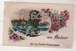 29 FINISTERE - CP COLORISEE UN BAISER DE LA FORET FOUESNANT - GABY - CIRCULEE EN 195? - La Forêt-Fouesnant