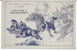 Carte Satyrique - Gde Chasse à Courre, La Curée, Guillaume & François-Joseph - 1914-18