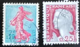 France - République Française - W1/13 - (°)used - 1960 - Michel 1277-1316 - La Semeuse - Marianne Type Decaris - Usati