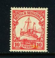 GERMAN NEW GUINEA  - 1914-19 Yacht Definitive 10pf Hinged Mint - Colony: German New Guinea