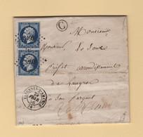 Varennes Sur Amance - 50 - Haute Marne - 29 Fevrier 1856 Annee Bisextile - Boite Rurale C - 1849-1876: Classic Period