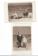 Carte Photo  Montage Enfants A La Plage  Jouet   Photographe Le Bon Ostende - Retratos