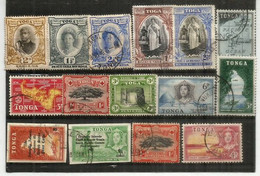 ILES TONGA.,lot Of Fine Used Stamps (15),oblitérés 1 ÈRE QUALITÉ, Inclus Forte Cote (nr 54 Yv. Reine Salote,etc) # 1 - Lots & Kiloware (max. 999 Stück)