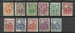ESTLAND Estonia 1922-1928 Blacksmith Schmied Weaver Michel 32 - 39 A & 57 - 59 O - Estonia