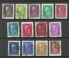 ESTLAND Estonia Estonie 1936-1940 Präsident Konstantin Päts 13 Werte O - Estonia