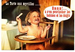 ENFANTS La Tarte Aux Myrtilles... Hmmm!... à S'en Pourlécher Les Babines Et Les Doigts - Retratos