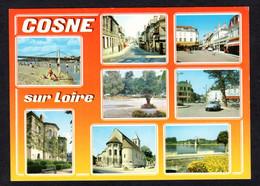 COSNE Sur Loire(58 Nièvre)Multi Vues- Plage, Rue St Aignan Et Du Commerce, Camping, Place De La Gare, Eglise, DS Citroën - Cosne Cours Sur Loire