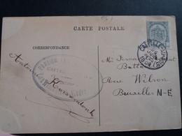 """Belgique  Oblitération  Capelle Au Bois Sur CP Vue  Gand """" Maison Des Tisserands """" - Postales [1871-09]"""