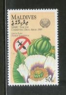 Maldives 1990 Drug Abuse Poppy Opium Health Sc 1373 MNH # 22 - Heilpflanzen