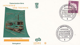Deutschland Germany 14.08.1975 FDC Naverkehrs Triebzug Train Railway - Trains