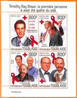 A7089 - TOGO, Error, 2019, MISPERF MINIATURE SHEET: Aids, Medicine, Red Cross - Enfermedades