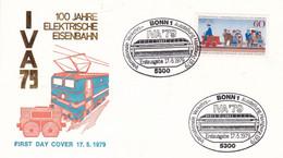 Deutschland Germany 17.05.1979 FDC Mi. 1014 Internationale Verkehrsausstellung IVA Hamburg Railway Train - Trains