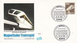 Deutschland Germany 16.06.1982 FDC Mi. 1138, Magnetbahn, Industrie Und Technik Railway Train - Trains