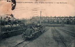 71 / 71 - CHATENOY LE NATIONAL - PRES CHALON SUR SAONE- LES ROTONDES GAR TRAIN LOCOMOTIVE- - Andere Gemeenten