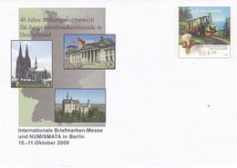 Deutschland Germany Briefmarken-Messe Berlin 2009, Numismata - Trains