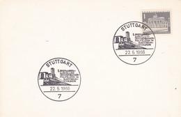 Deutschland Germany 1966  - 1. Kongress Eisenbahner Philatelisten, Stuttgart - Trains